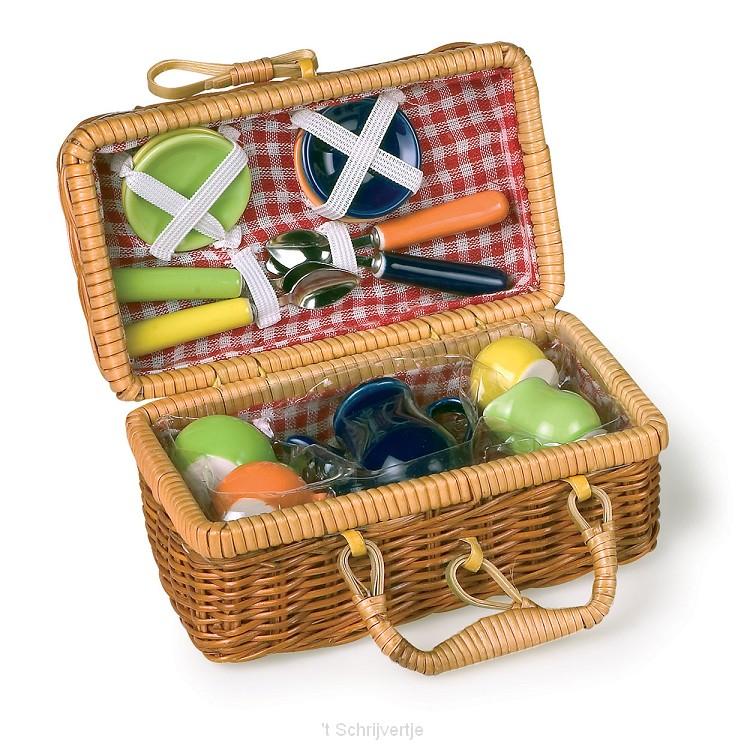 Picknickmandje met Serviesgoed