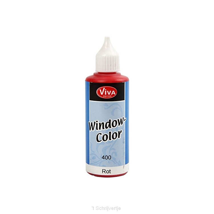 Sticker- en Glasverf - Rood, 80ml