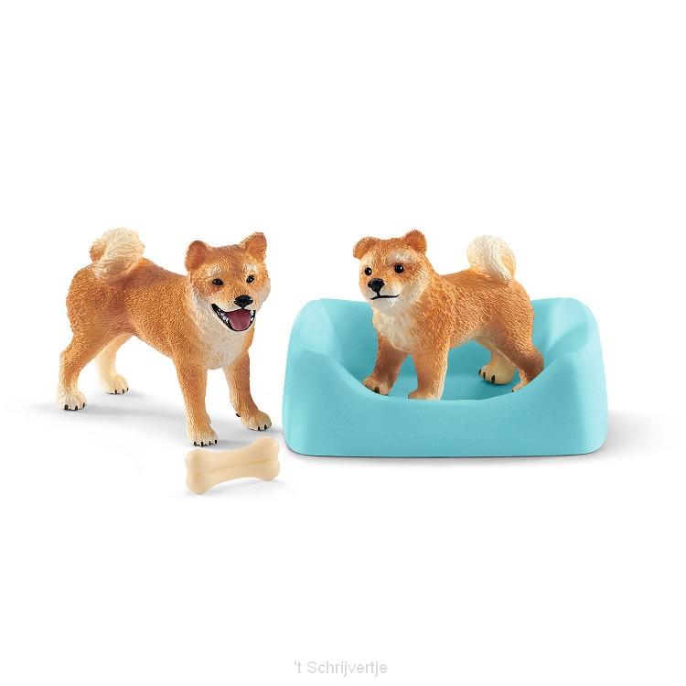 Schleich Shiba Inu Moeder en Pup