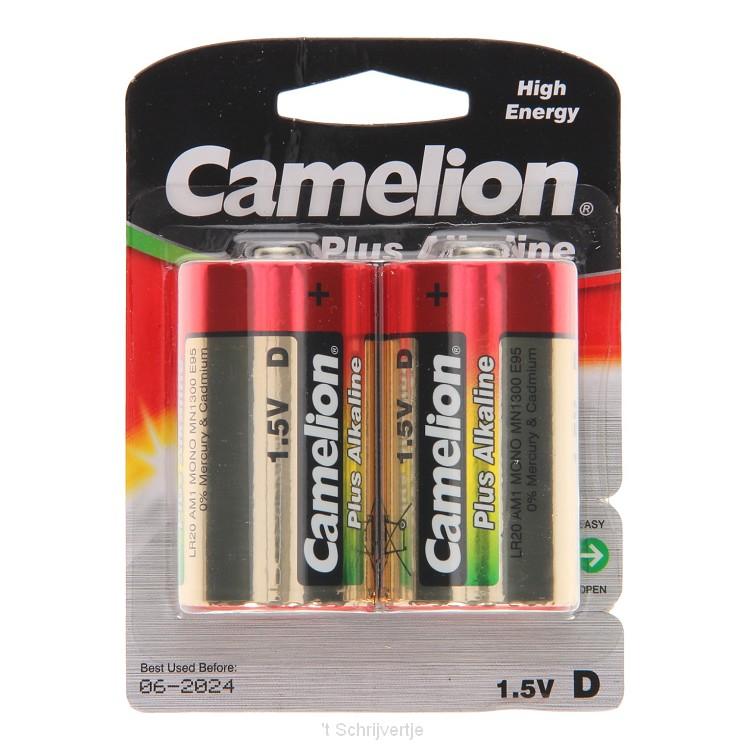 Camelion Plus Batterij Alkaline D/LR20, 2st.