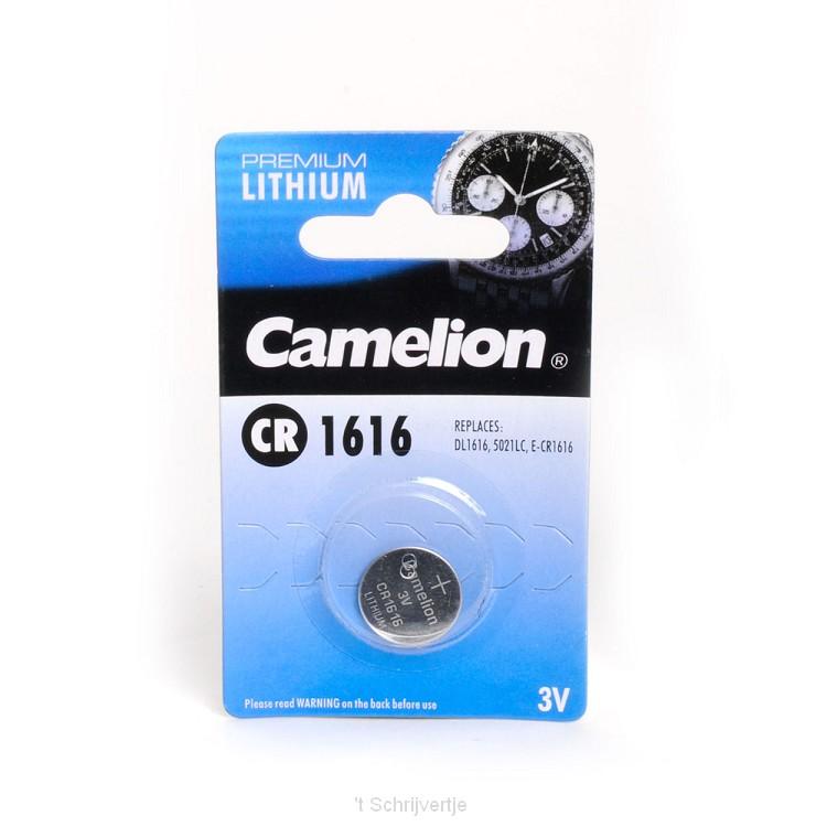 Camelion Knoopcelbatterij 3V Lithium CR1616