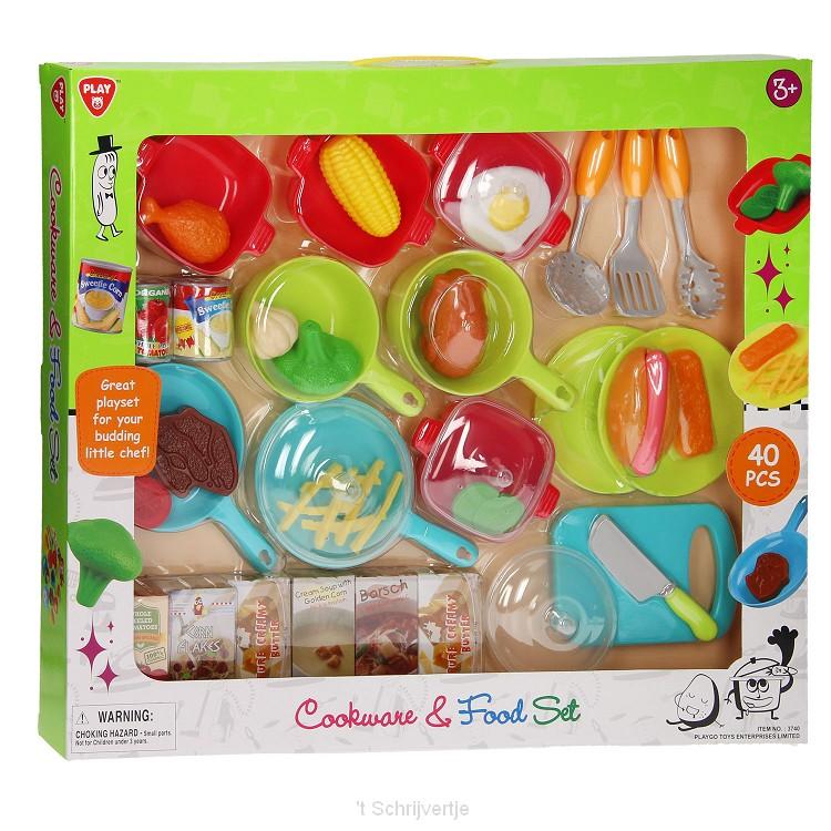 Playgo Keuken- en Voedselset, 40dlg.
