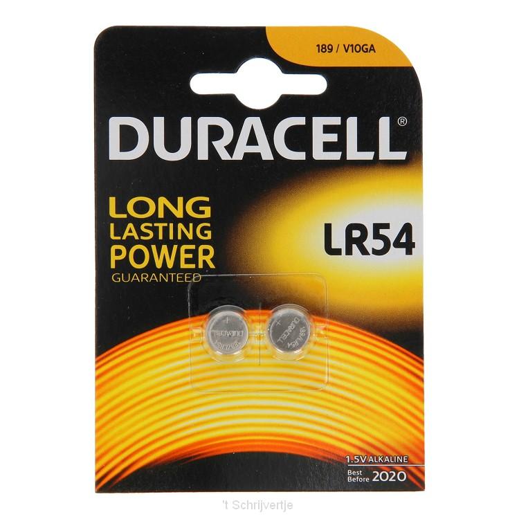Duracell Alkaline Batterij LR54 1.5V, 2st.