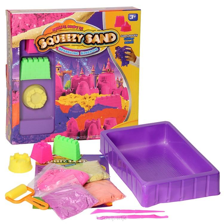 Squeezy Speelzand met glitters