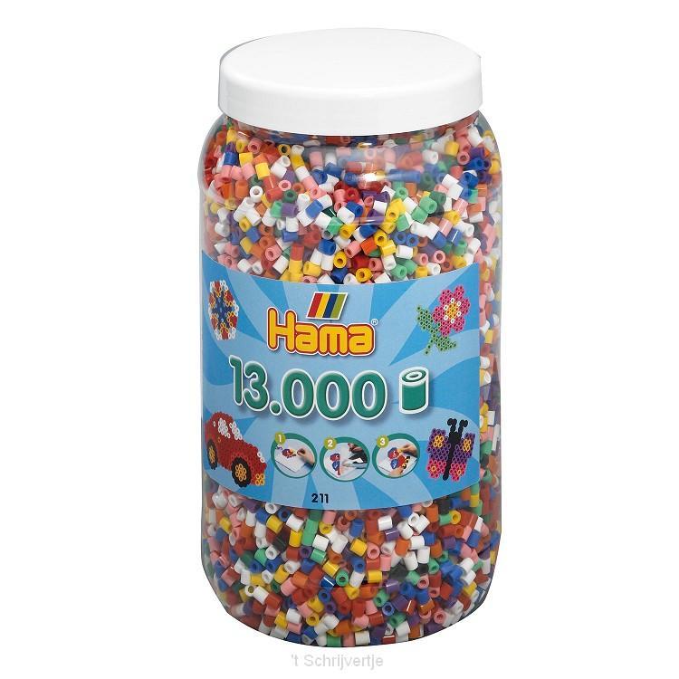 Hama Strijkkralen in Pot - Mix Standaard (00), 13.000st.
