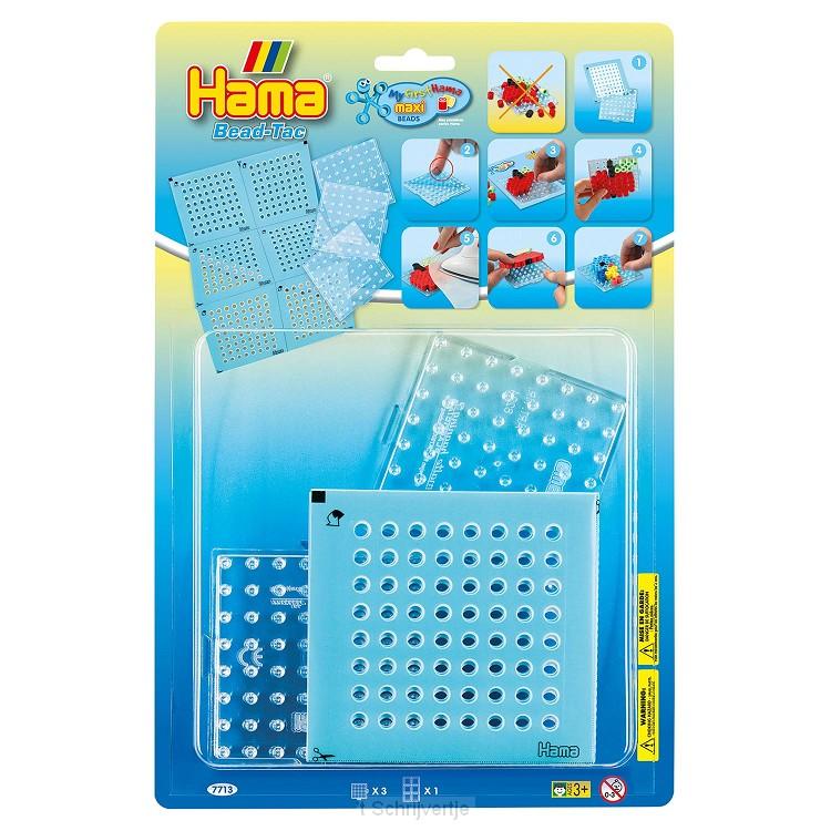 Hama Bead-Tac Strijkkralenbordjes Maxi, 3st.