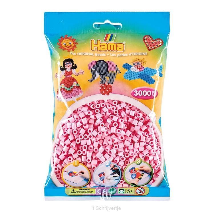Hama Strijkkralen - Pastel Roze (95), 3000st.