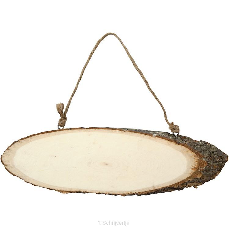 Deurschild Hout 23-28 cm