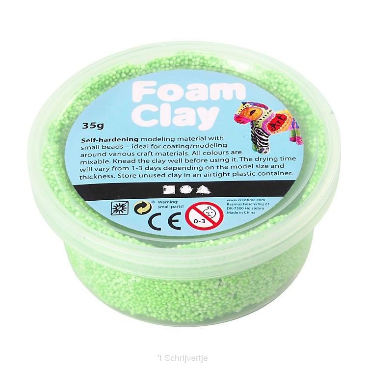 Foam Klei - Neon Groen, 35gr.