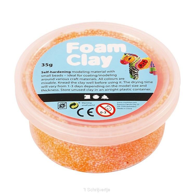 Foam Klei - Neon Oranje, 35gr.