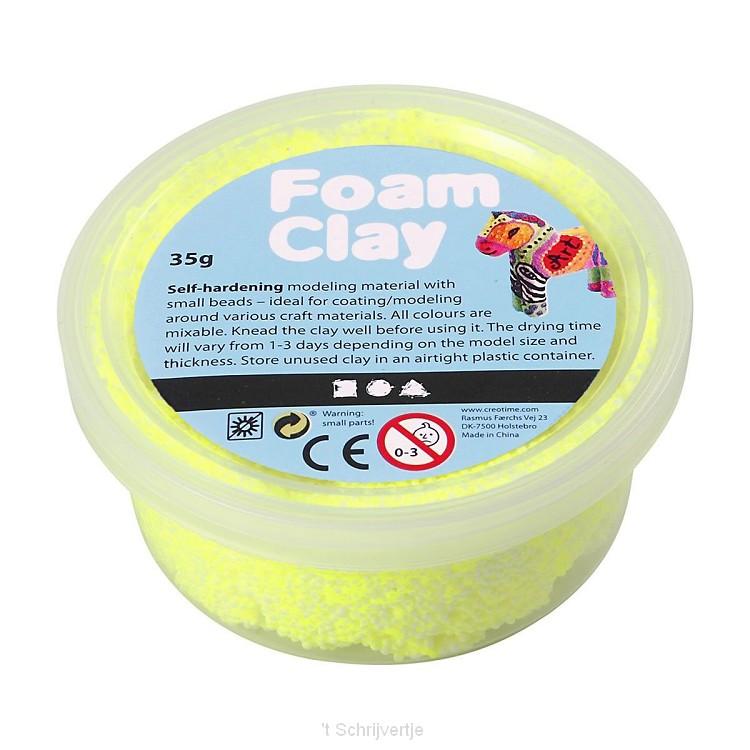 Foam Klei - Neon Geel, 35gr.