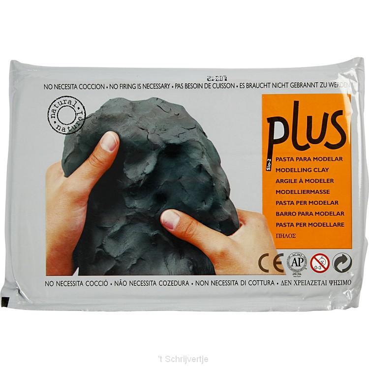 Zelfhardende Boetseerklei Zwart, 1000gr