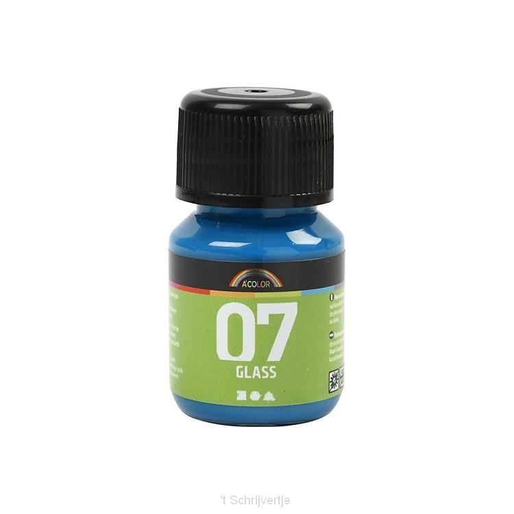 Permanente Glasverf - Turquoise, 30ml