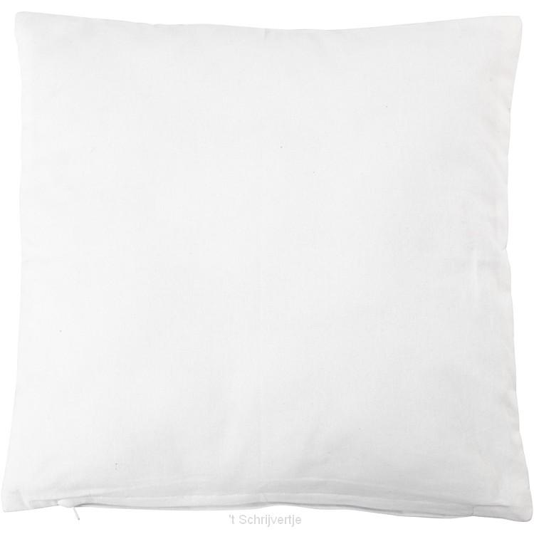 Kussenhoes Vierkant Wit, 40x40cm