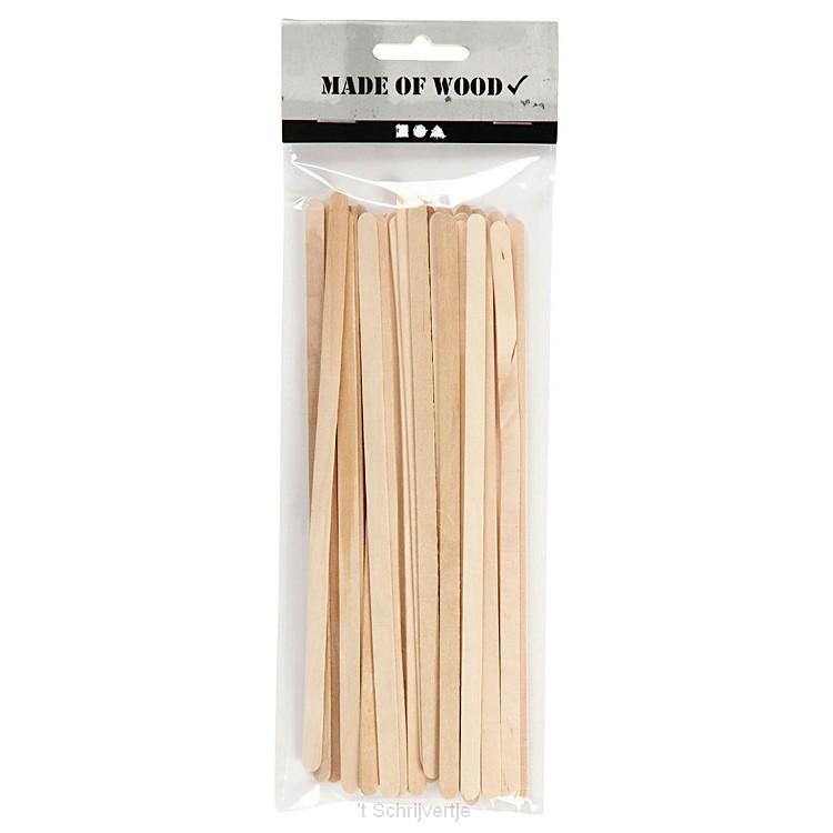 Houten Knutselstokjes Lang, 30st (19x6mm)