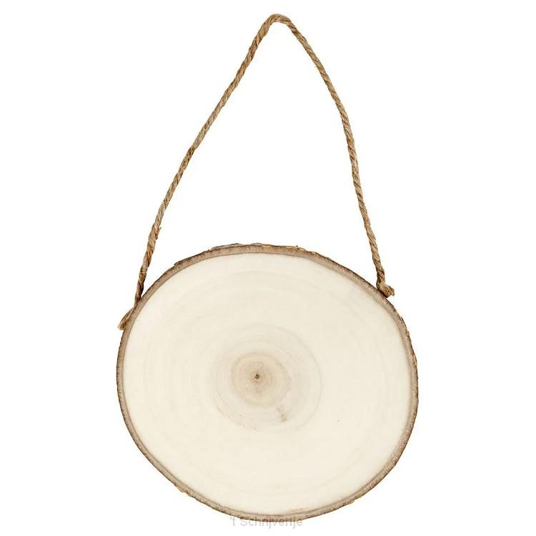 Deurschild Hout, 12-14 cm