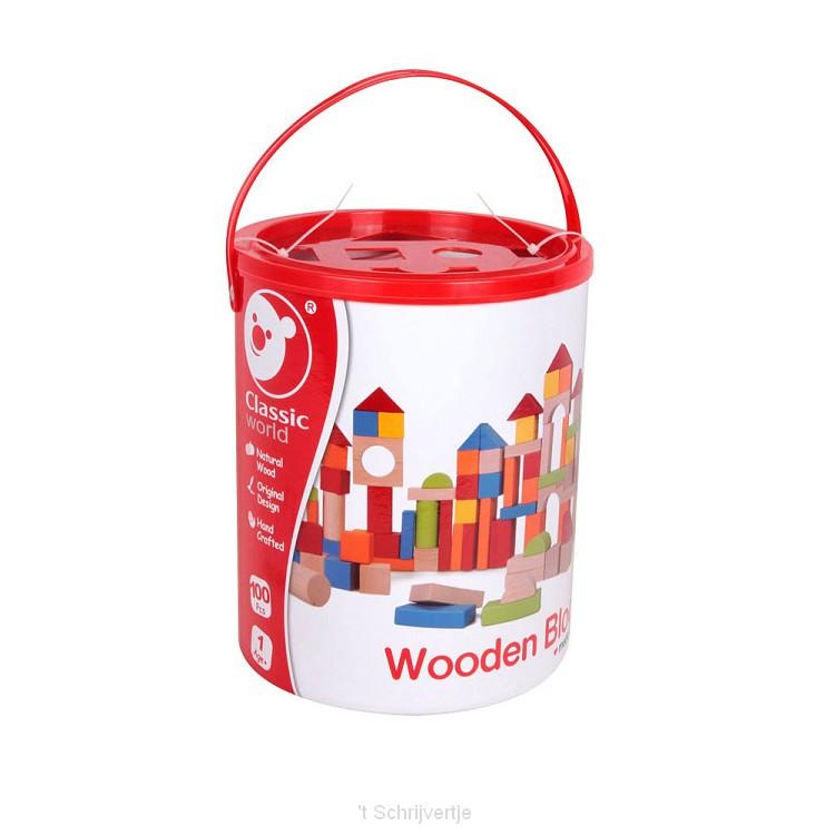 Classic World Houten Blokken, 100dlg.