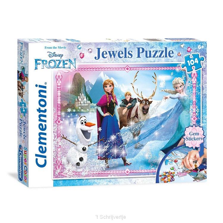 Clementoni Jewels Puzzel Disney Frozen, 104st.