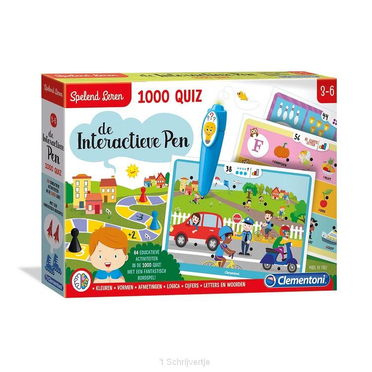 Clementoni Spelend Leren - De Interactieve Pen, 1000 Quiz
