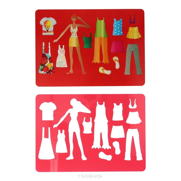 Tekensjabloon Rood Mode, 27x19cm