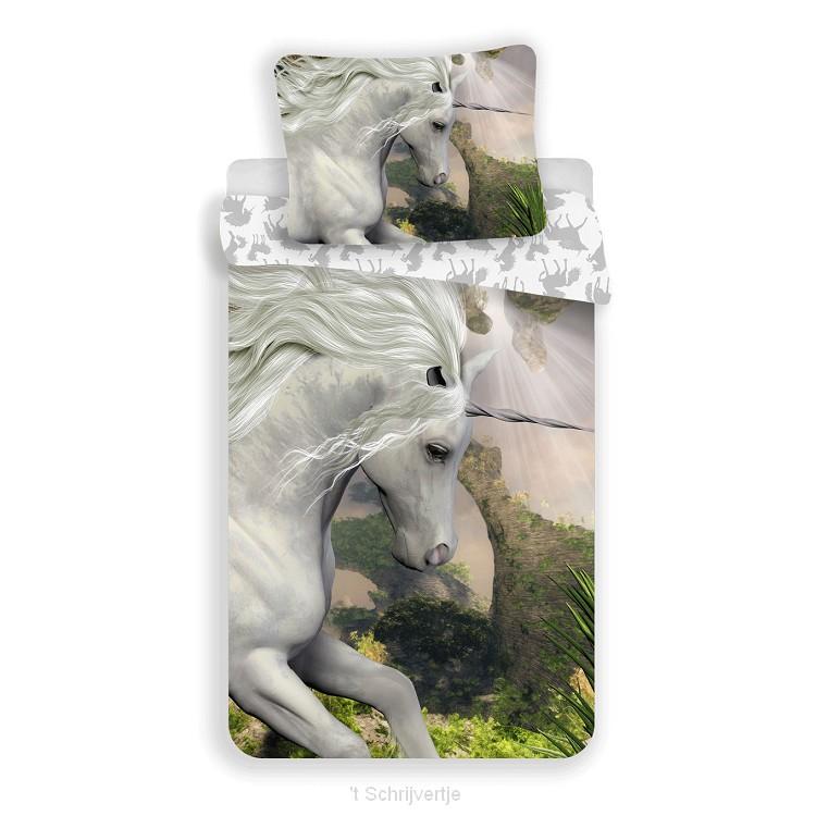 Dekbedovertrek Eenhoorn Wit