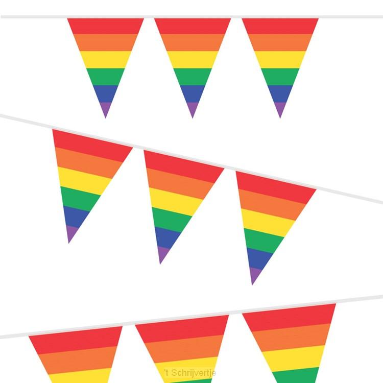 Vlaggenlijn Regenboog, 10mtr.