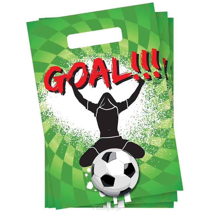 Uitdeelzakjes Goal, 6st.