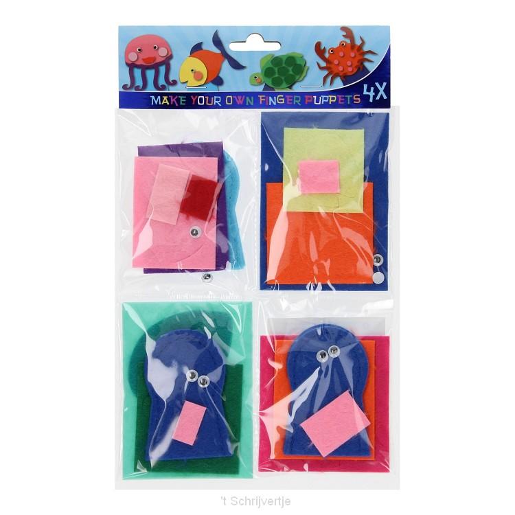 Knutselpakket Vingerpopjes Maken - Zeedieren