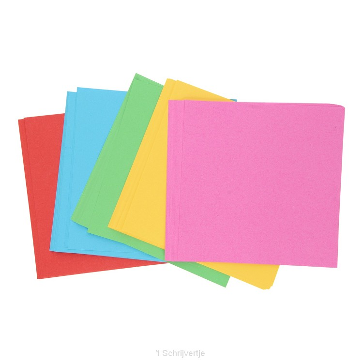 Felgekleurde Vouwblaadjes, 16x16cm
