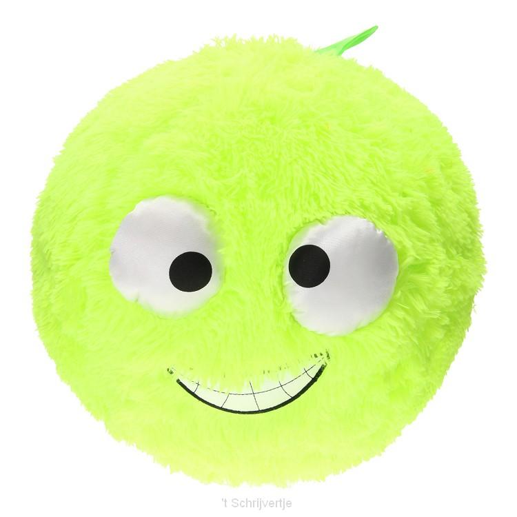 Fuzzy Bal met Lachgezicht - Groen, 40cm
