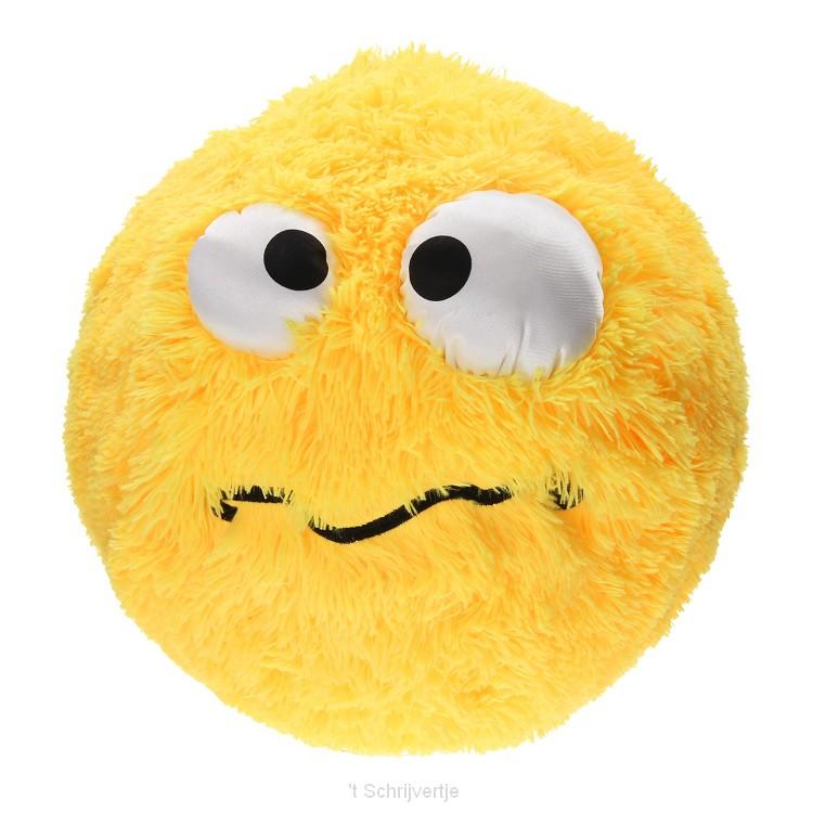 Fuzzy Bal met Smiley, 40cm