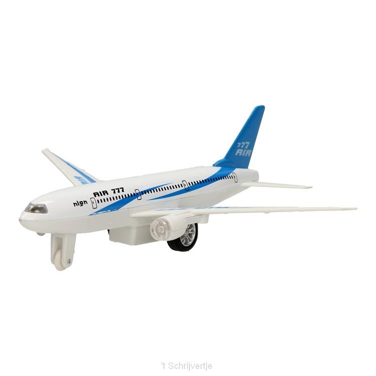 Vliegtuig Die-Cast met Licht & Geluid
