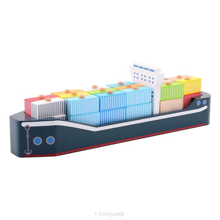 Joueco Houten Containerschip