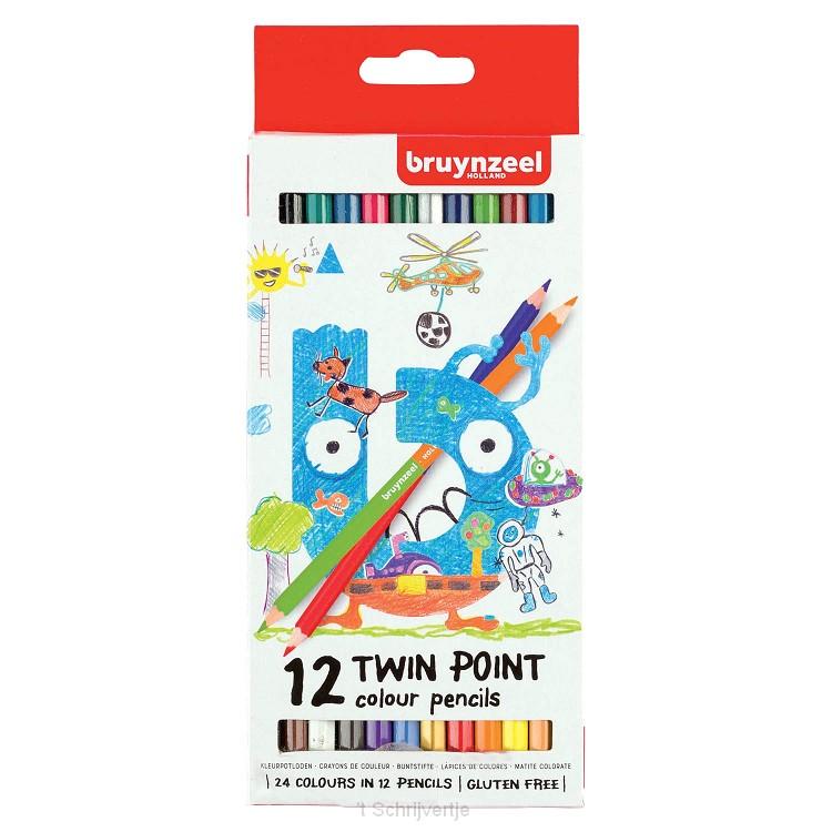 Bruynzeel Kids Twin Point Kleurpotloden, 12st.