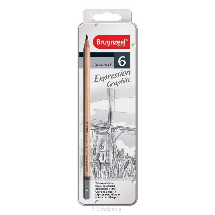 Bruynzeel Expression Grafietpotloden, 6st.
