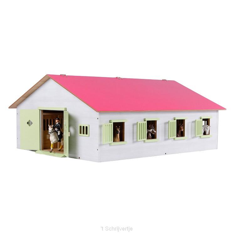 Kids Globe Paardenstal met 7 Boxen, 1:24