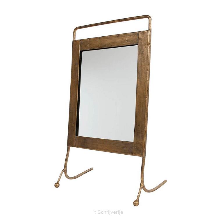 Spiegel Metaal op Poten, 29cm