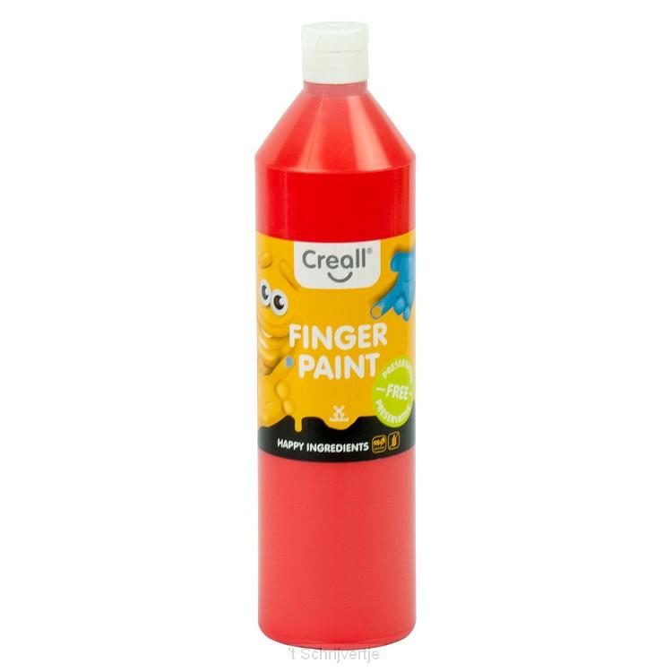 Creall Vingerverf Conserveringsvrij Rood, 750ml