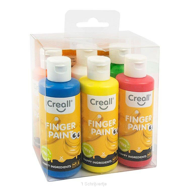Creall Vingerverf Conserveringsvrij, 6x80ml