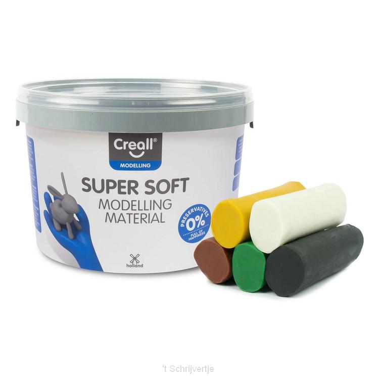 Creall Supersoft Klei Safari kleuren, 1750gr.