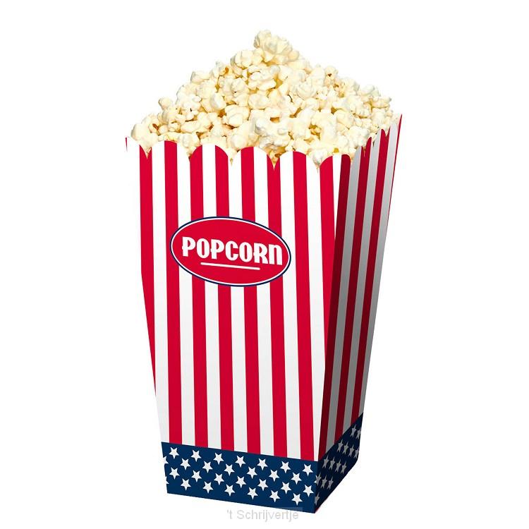 Popcornbakje USA, 4st.
