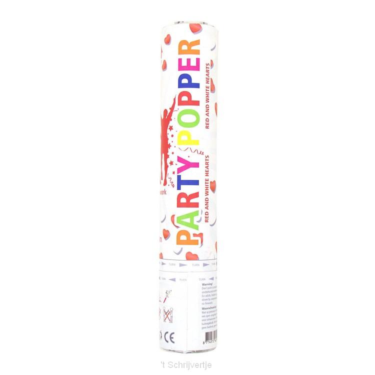 Party Popper Hartjes, 28cm