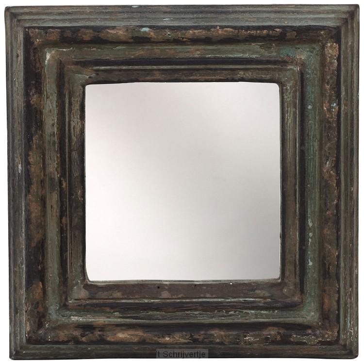 Spiegel Madera Bruin Mangohout Vierkant