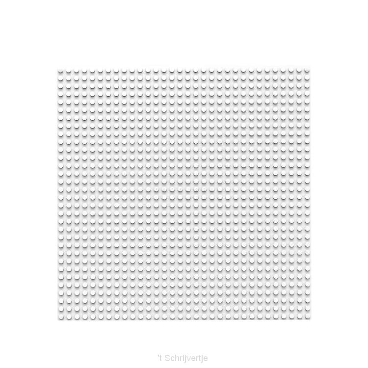 BiOBUDDi Grondplaat Wit, 32x32