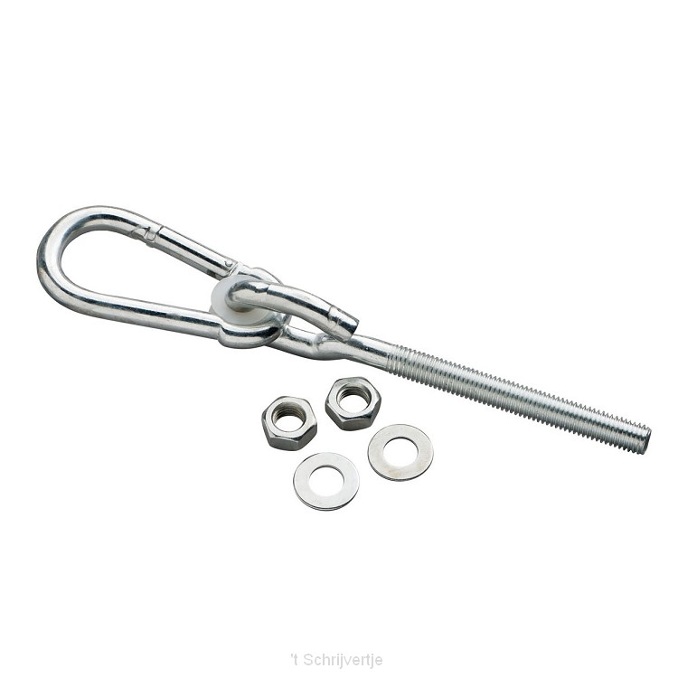 Schommelhaak M12x100 karabijnhaak