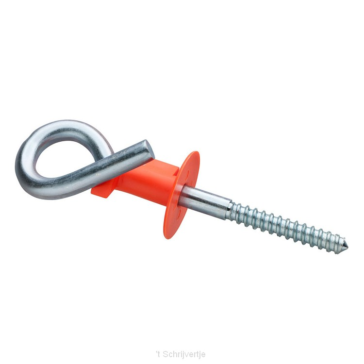 Schommelhaak krul met ks Veiligheidsclip