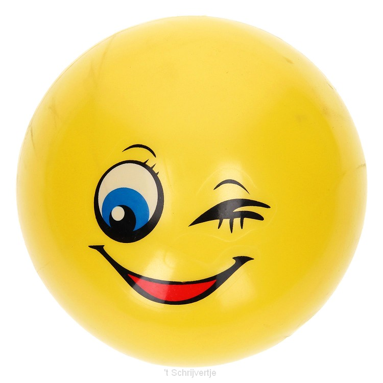 Bal Vrolijk Lachgezicht, 14cm