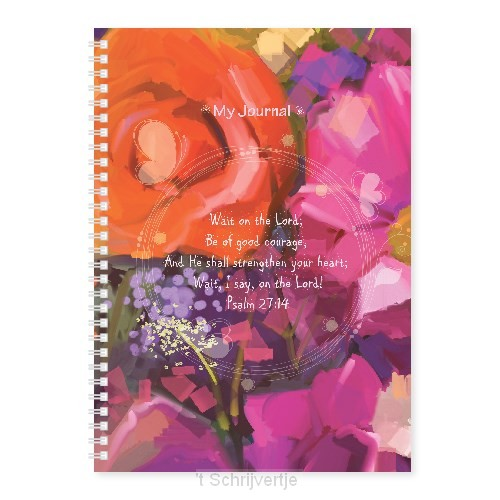 Softcover journal wait on the Lord