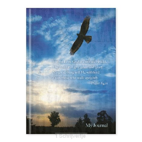 Hardcover journal eagle psalm 84:11