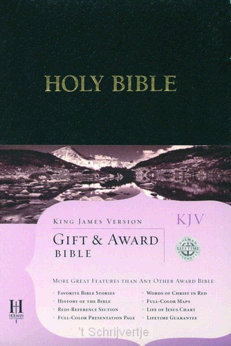 Kjv gift & award bible black leatherflex